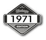 VIntage Edition 1971 Classic Retro Cafe Racer Design External Vinyl Car Motorcyle Sticker 85x70mm